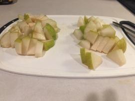 Chopped Pears